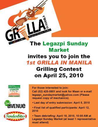 Legazpi Sunday Market's Grilla In Manila