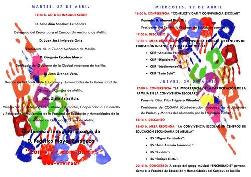 Díptico Jornadas de convivencia abril 2010
