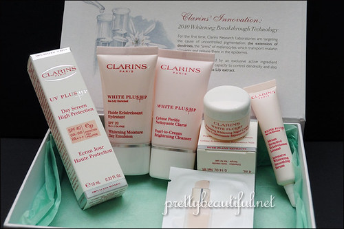 Clarins White Plus HP Sea Lily Enriched travelling kit