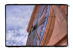 Timed Right (Kristal Kraft ~ DenverDwellings) Tags: sky clock denver co flickrshop danielsfishertower doorsopendenver