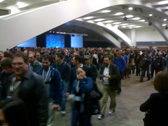 The crowd filing out after the #Drupalcon keynote