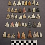 "<b>1969.13AM6.6.1-3</b><br/> Projectile Points; Madison Type, Malone Village<a href=""http://farm5.static.flickr.com/4037/4546455412_9ed94667c3_o.jpg"" title=""High res"">∝</a>"