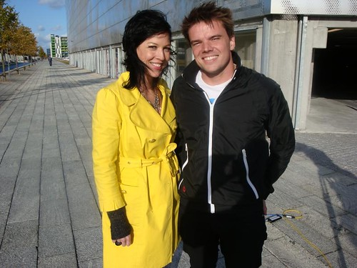 Amy Devers with Bjarke Ingels at The Mountain