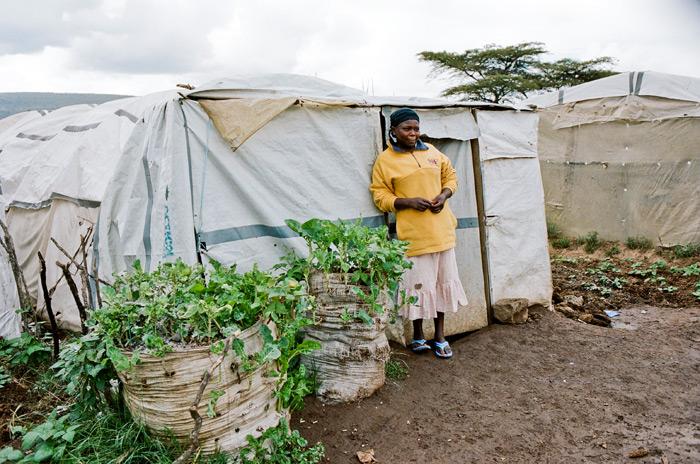 Image of IDP camp life in Kenya
