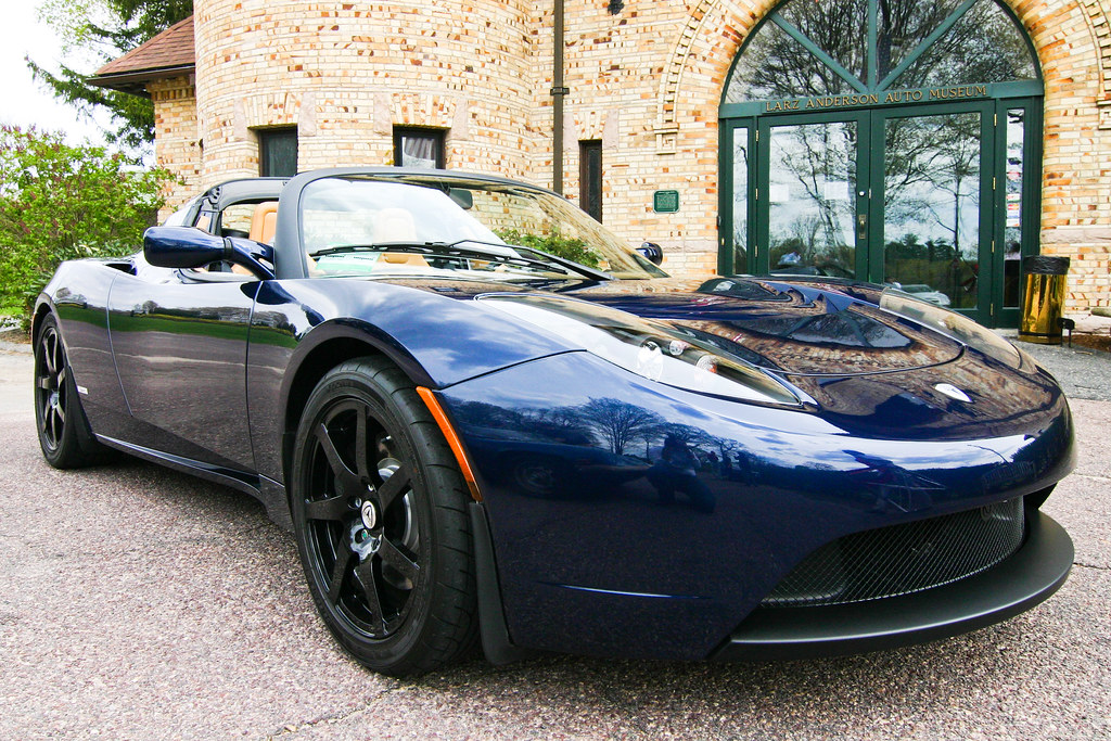 2010 Tesla Roadster Sport at Larz Anderson Auto Museum (photo credit: Greg PC)