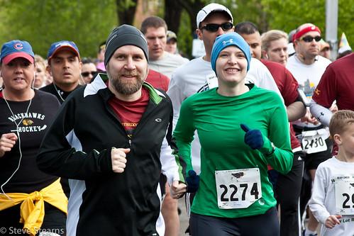 Fuzzy and Erica - Ravenswood Run 5K