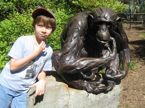 4/27/10-NatlZoo, Orangutan sculture garden