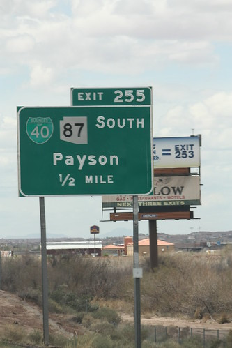 Button copy guide sign - I-40 West Exit 255