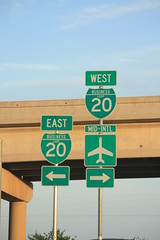 Business Loop I-20 shields in Midland (Adam's Journey) Tags: vacation signs texas favorites 2010 canonxsi businessi20