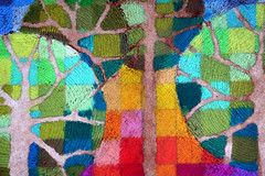 Trees and sky (rettgrayson) Tags: trees sky squares watercolour colourful pixels oilpastel