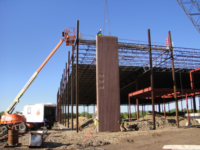 The first wall of the Blaine campus goes up!