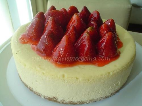 Cheesecake estilo NY con fresas