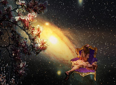 My universe (Mara ~earth light~) Tags: inspiration game flower tree photoshop stars fun magic competition fantasy creativecommons magnolia universe intuition idream galaxi memoriesbook moodcreations mara~earthlight~ artuniinternational abokehoflight
