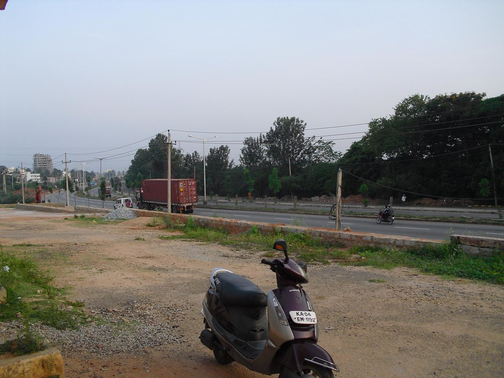 Hebbal station looking west