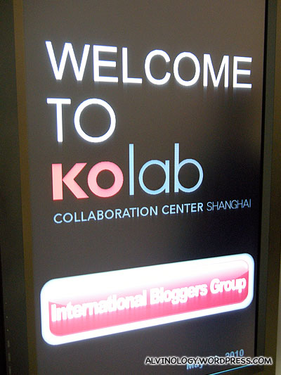 Digital signboard to welcome the bloggers, how flattering!
