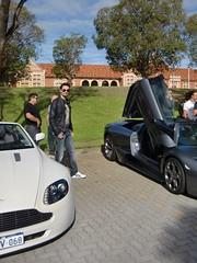 Aston Martin V8 Roadster + Lamborghini LP640 Roadster (Blk_Lambo) Tags: australia perth western lamborghini v8 astonmartin roadster coconutrun lp640roadster