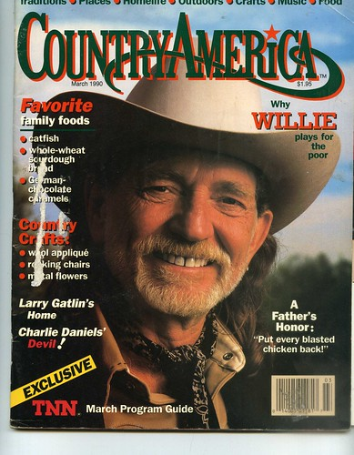 Laid Back Willie Nelson Country America Magazine March 1990 Www