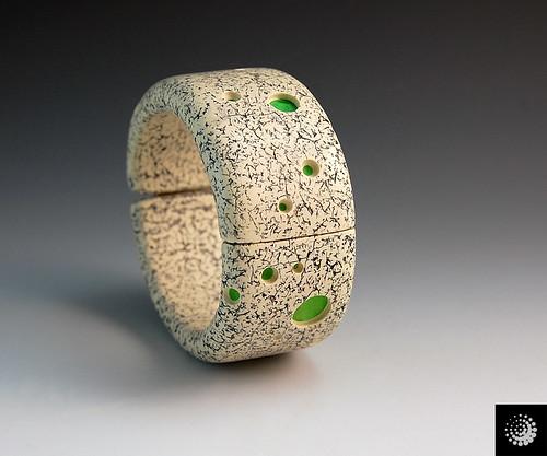 Faux Granite Hinged Bracelet
