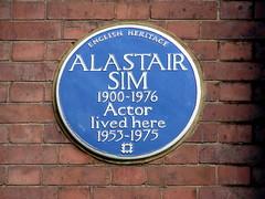 Photo of Alastair Sim blue plaque