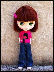 a mini-Miranda on her tee