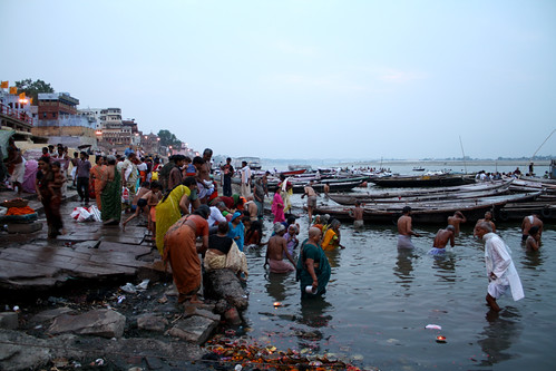 Everyone has a bath in Ganges