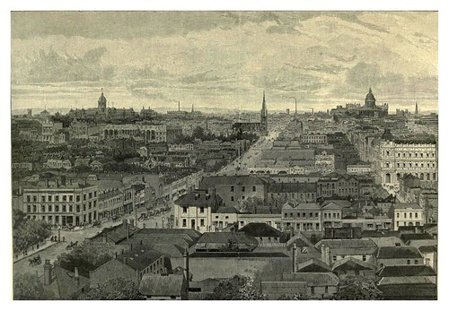 029-Melbourne vista desde el este-Australasia illustrated (1892)- Andrew Garran