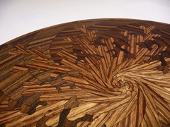 Lasercut wood spirals