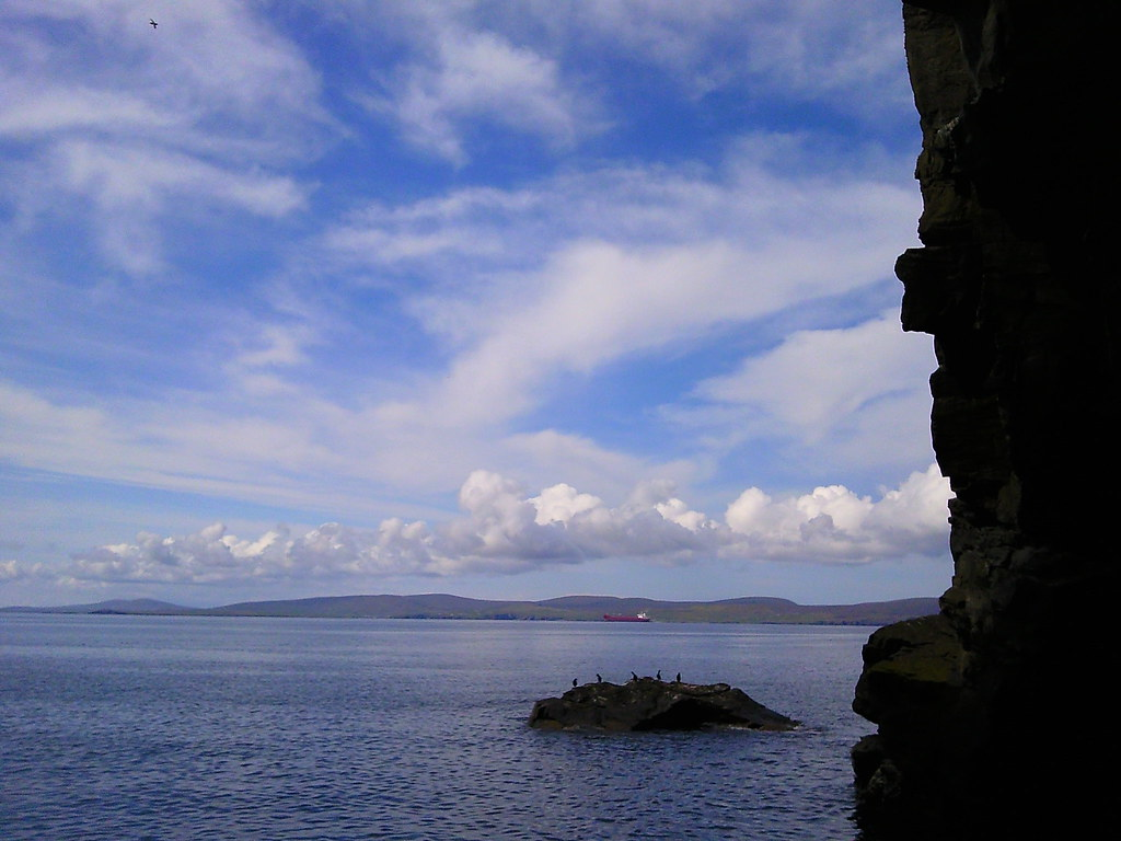 View out of Bressay sea cave #shettrip