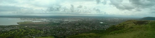 Panorama from the Cavehill of Belfast City