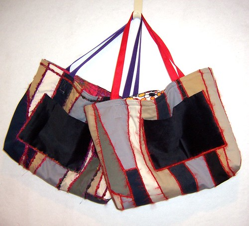 abstract pants tote