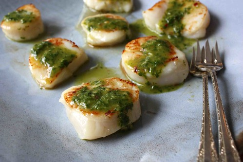 Seared Scallops with Chimichurri Dressing Recipe