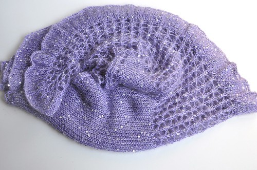 beaded mohair shawlette-5