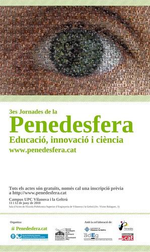 """Cartell 3es Jornades de la Penedesfera: """"Educació, Innovació i Ciència"""""""