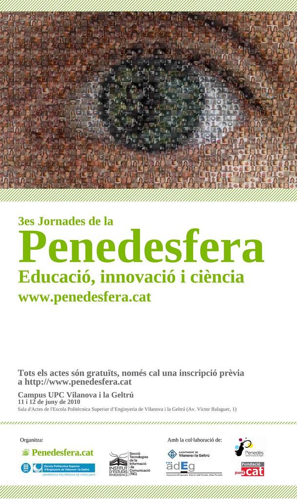 Cartell 3es Jornades de la Penedesfera: Educació, Innovació i Ciència