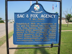 Sac & Fox Agency Marker