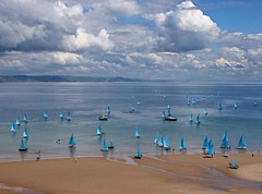 Blue Waterflies (Lumenoid) Tags: blue beach wales sailing best tenby summerdreams mywinners flickrdiamond bestcapturesaoi blinkagain bestofblinkwinners