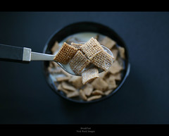 Breakfast (Reckless Times) Tags: black field breakfast eos milk dof wheat nick spoon cannon 300 cereals depth reck fibre shreddie flickrgolfclub