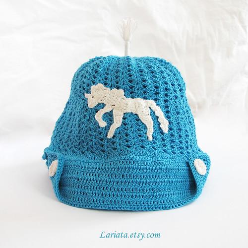crocheted kids cap/summer hat