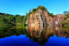 Mezmerized (Mel Mijares) Tags: blue reflection landscape google guilin fave explore wikipedia frontpage peacefulness mezmerized captivating guilinchina 1740f4l nonhdr littleguilin 5dmkii singaporetreasure