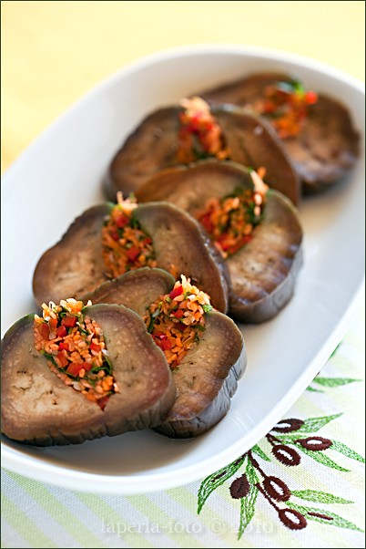 Salted eggplant with carrots, herbs and garlic1