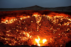 The Door to Hell (in the nighttime) / Turkmenistan, Darvaza by flydime