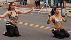 Bellydancers with Swords (Brian Leon of Ottawa) Tags: dance arts bellydancer dancer winstonsalem galleryhop tradestreet