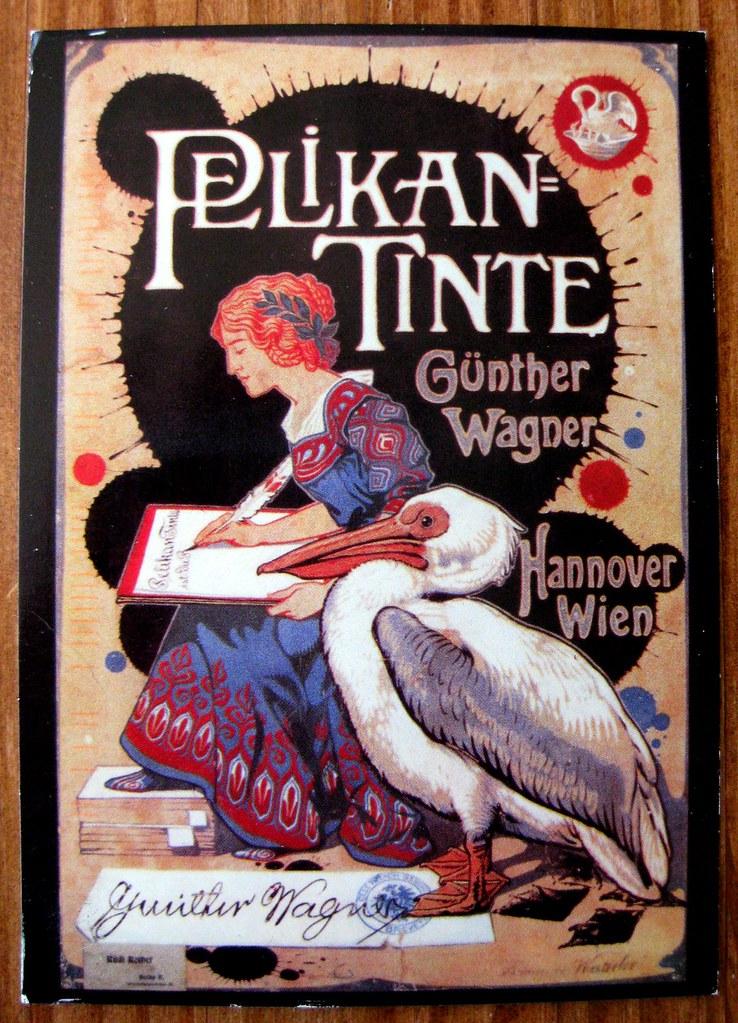 Pelikan postcard