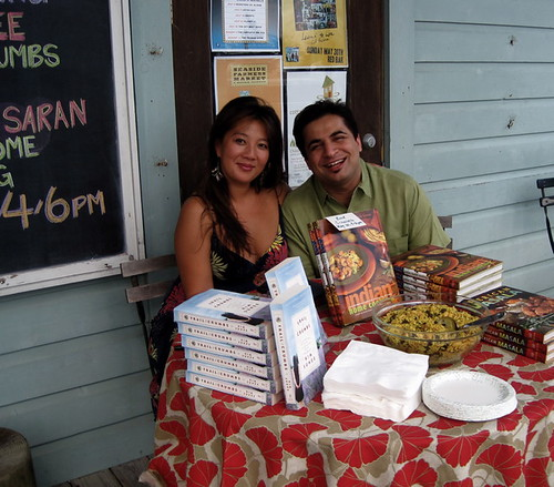 Kim Sunee and Chef Suvir Saran at Sundog Books