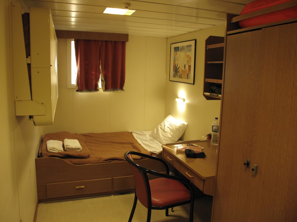 我住的單人艙房