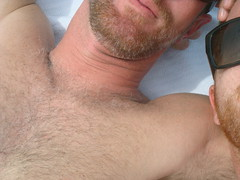 together tuesday - us (redjoe) Tags: light hairy man men beach me smile face sunglasses self hair fur beard him ginger us hands afternoon sweet chest lips redhead together freckles delaware date redhair rehoboth fuzz redjoe joehorvath