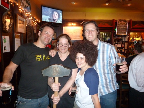 Standard Tap owner Willam, Doobie's owner Patty, Suzy and Brian, both from Sly Fox Brewing and, of course, the Hammer