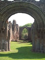 Lilleshaw arches with shadow (arlechinna) Tags: abbey ruins arches telford lilleshaw