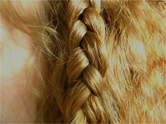 Braided. (UFOplztakeherhome) Tags: red hair ginger haze redhead hayley braid