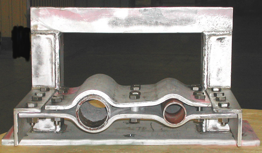 230 lb. Double Cable Clamp for an Oil Refinery